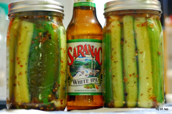 Spicy Garlic Beer Pickles