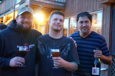Adam and Chris with Joe Tucker of RateBeer