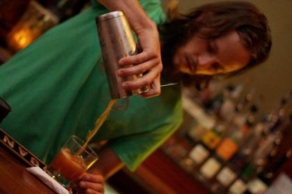 Eric preparing a cocktail