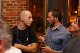 Chef Damien and Head Brewer Nate