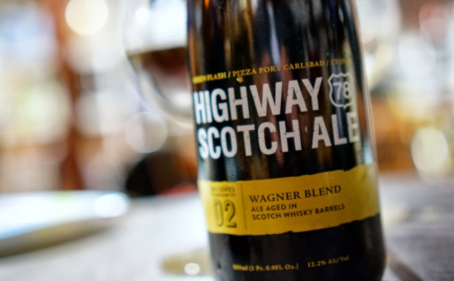 Green Flash / Pizza Port Carlsbad / Stone Highway 78 Scotch Ale - Wagner Blend
