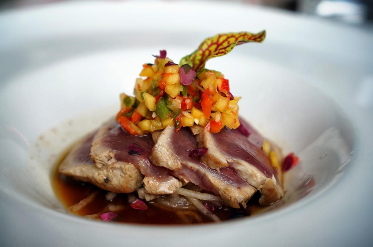 Yellowfin Tatake at DP Brasserie