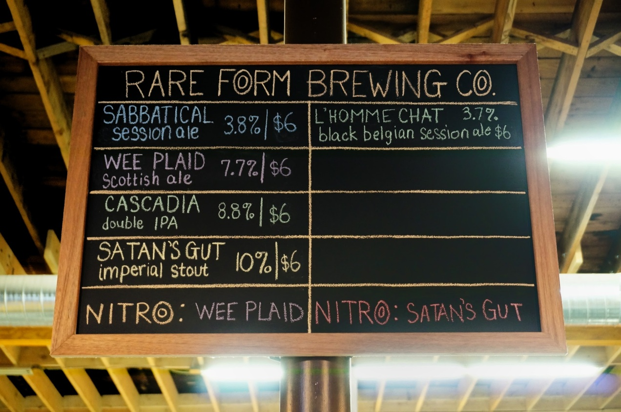 Rare Form Brewing Company Tap List