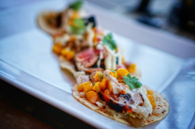City Beer Hall Tuna Tacos