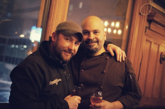 Chef Dimitrios from The City Beer Hall and Jeremy Irving from Remarkable Liquids
